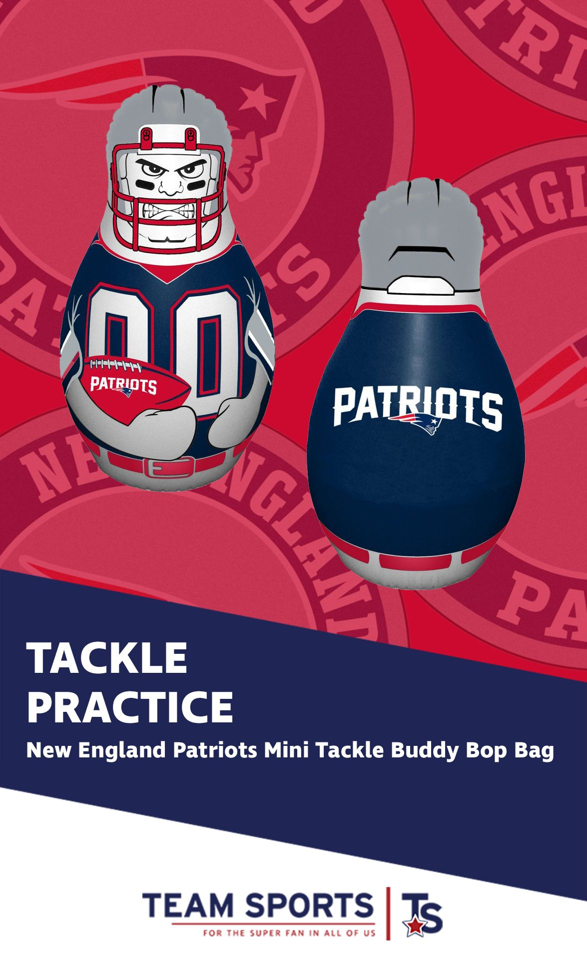 patriots england team sports bag merchandise gifts football prices nfl punching tackle inflatable fan gear teamsportsgift buddy bop feel