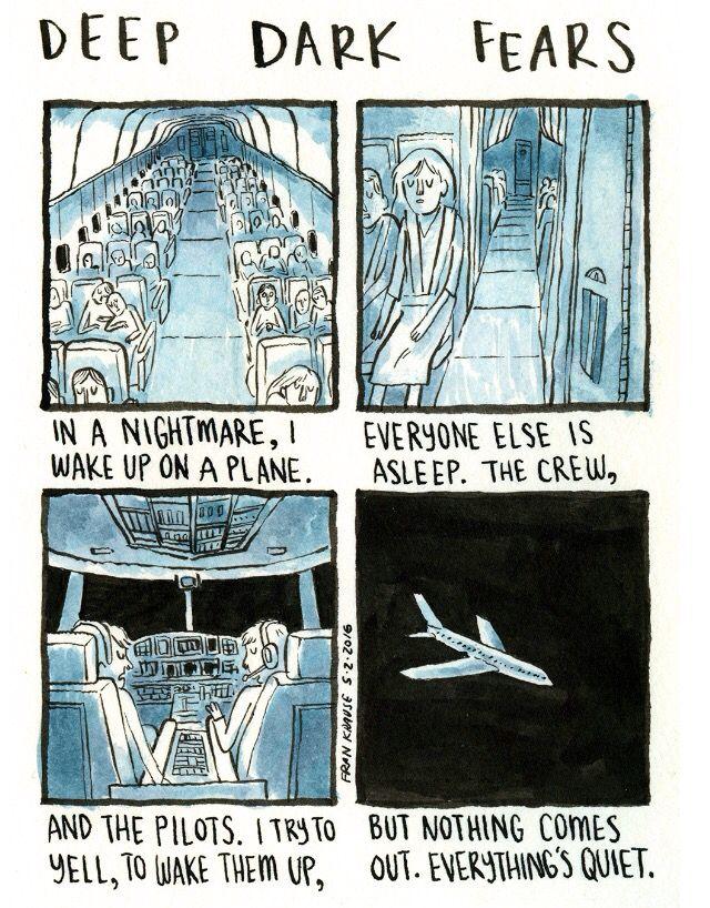 Deep dark fear - airplane | deep dark fears | Cómics, Cosas
