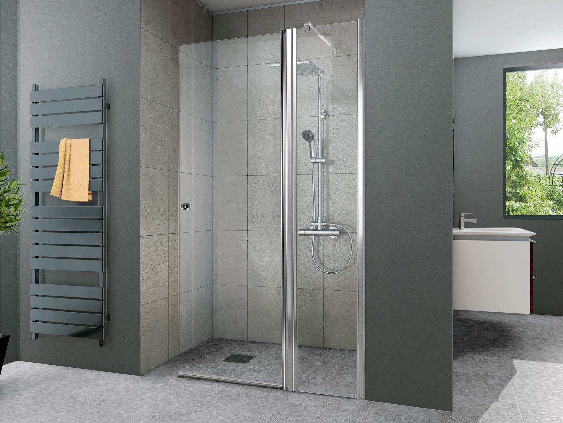 Walk In Dusche Pendeltur 100 X 220 Cm Bad Design Heizung Bathtub Room Divider Bathroom