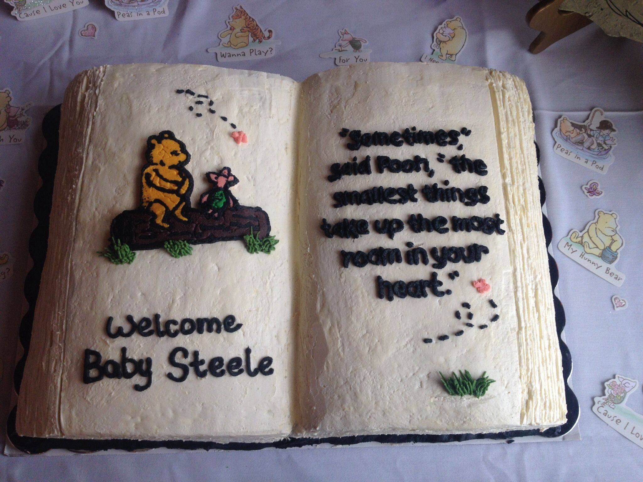 classic pooh baby shower cake classic winnie the pooh book cake