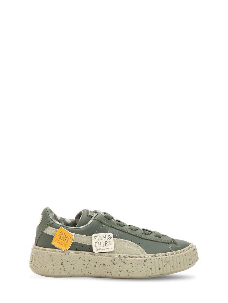 Leather Military Sneakers Platform Green Puma Rrquvn0x Cottons Tiny X qaXRxwxp