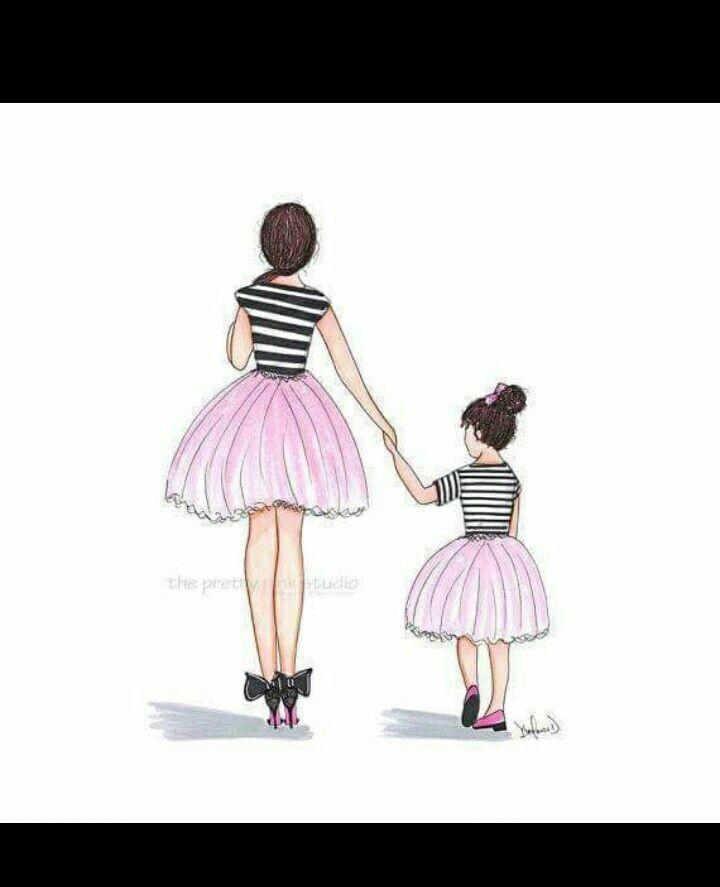 But With Hula Dancers Diseno Madre E Hija Dibujo Madre E Hija