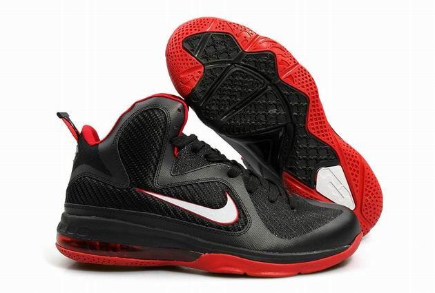 huge selection of 8cfd8 3a2c3 Nike LeBron 9 Black Red Mens Basketball Shoe  95.99