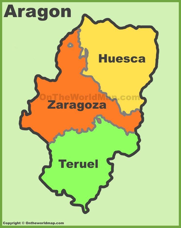 Teruel Spain Map.Aragon Provinces Map Spain Aragon In 2019 Pinterest Aragon