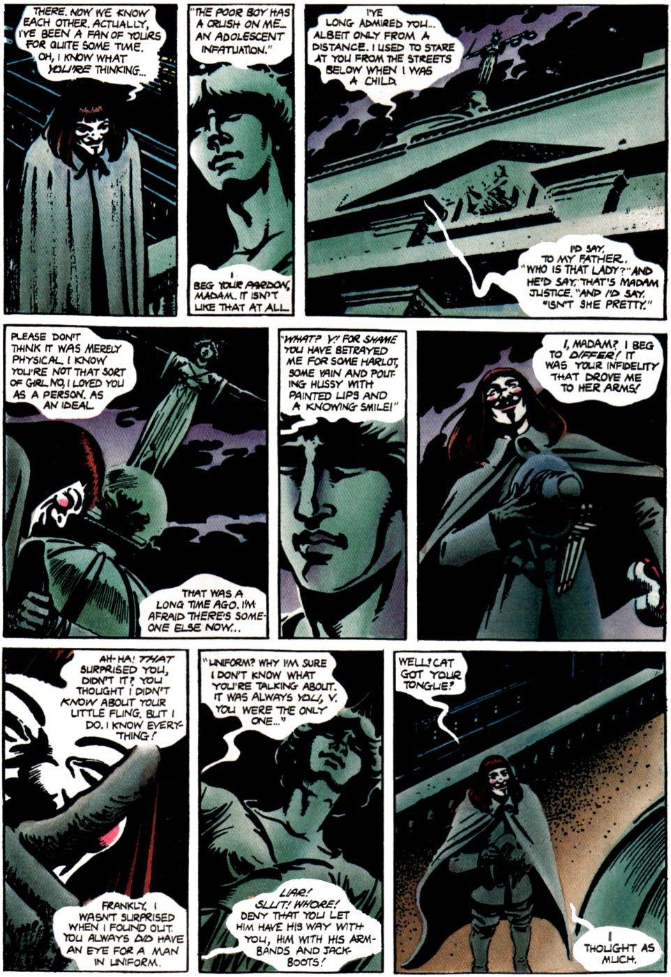 V For Vendetta By Alan Moore And David Lloyd Bandas Desenhadas Guy Fawkes Teatral