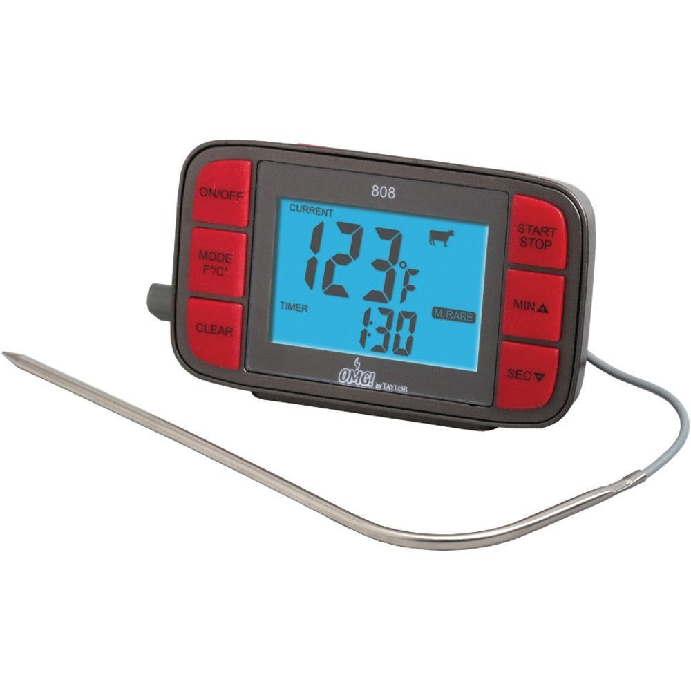 TAYLOR 808OMG Digital Grill Thermometer with Probe & Timer ...