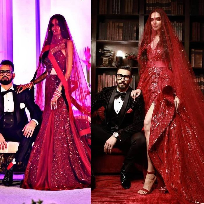 Brides who wore Deepika Padukone's Sabyasachi lehenga ...