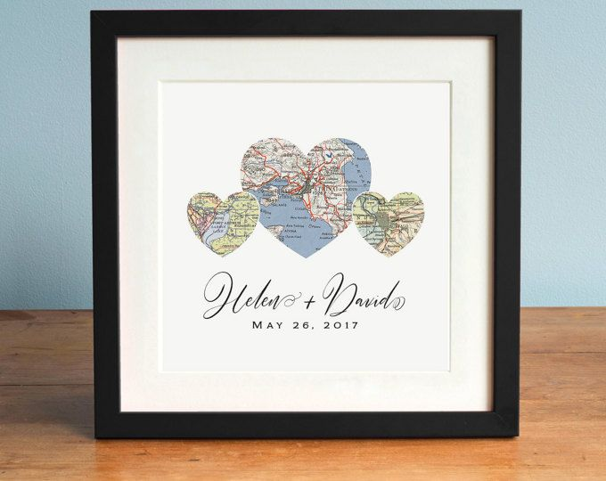 Adventure Together™ Map Mountain Personalized Wedd