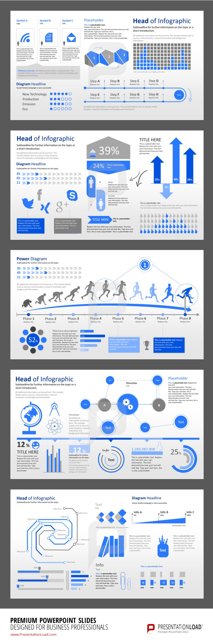 Infographic Powerpoint Templates Use Poll Charts Thermometer Charts