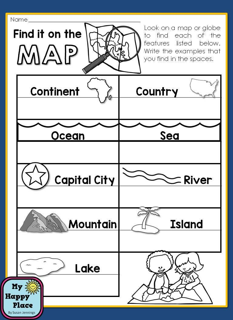 Maps unit with powerpoint and printables geography map skills maps geography for the primary grades powerpoint slideshow and printables for kindergarten and first grade map skills gumiabroncs Gallery