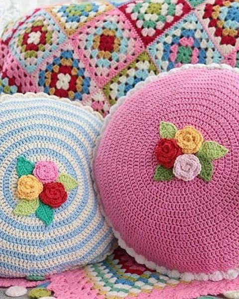 Crochet Round Pillows Neverland Neverlandshobbyworld On