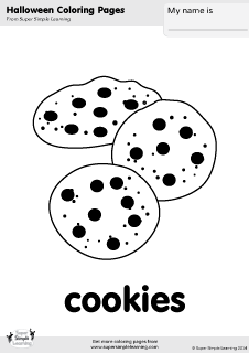 Free cookies coloring page from Super Simple Learning. Tons of ...