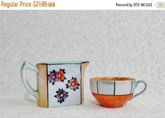 SALE Lusterware Tea Cup Creamer  Vintage by BeanzVintiques on Etsy