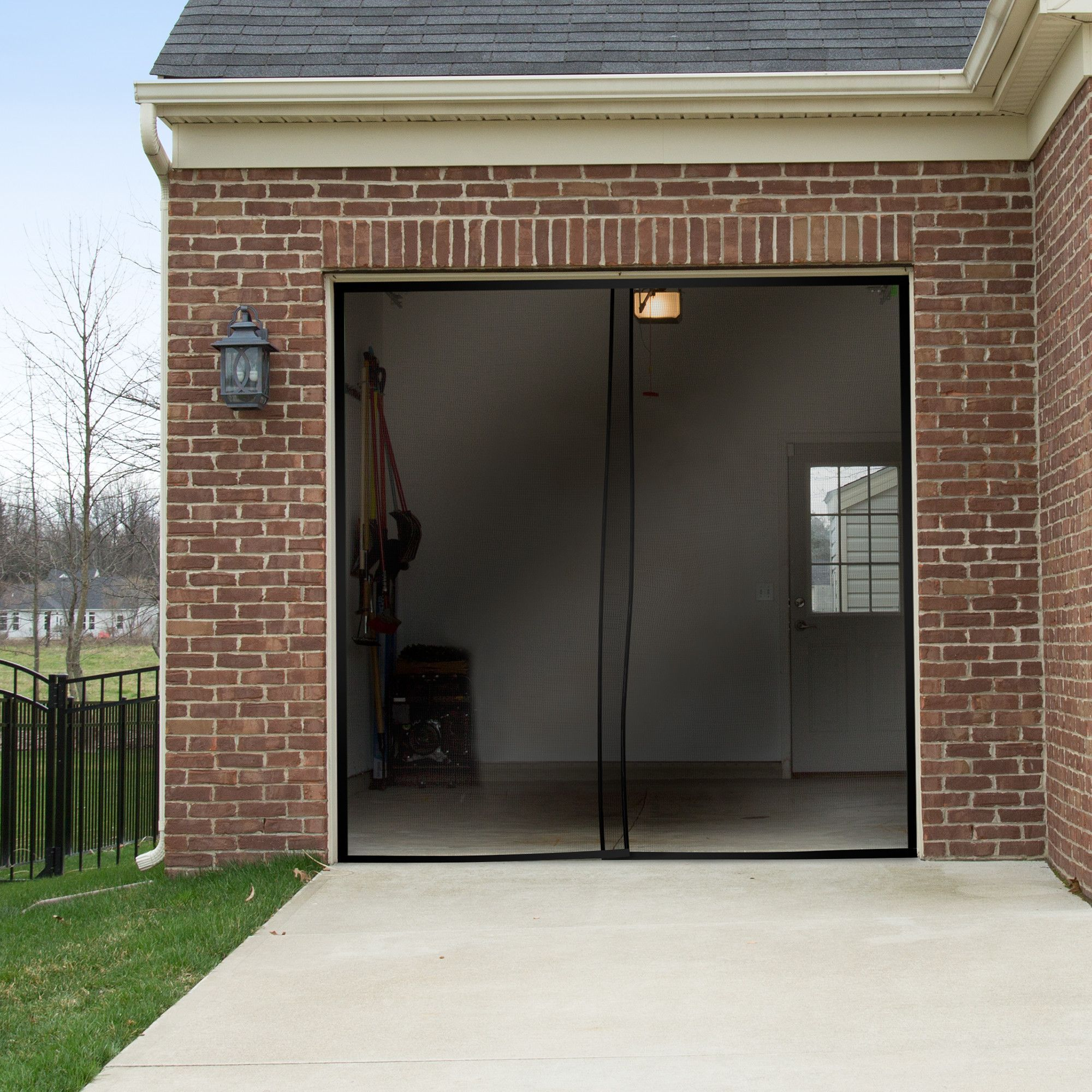 2Piece One Car Garage Screen Door Car garage Screens and Doors