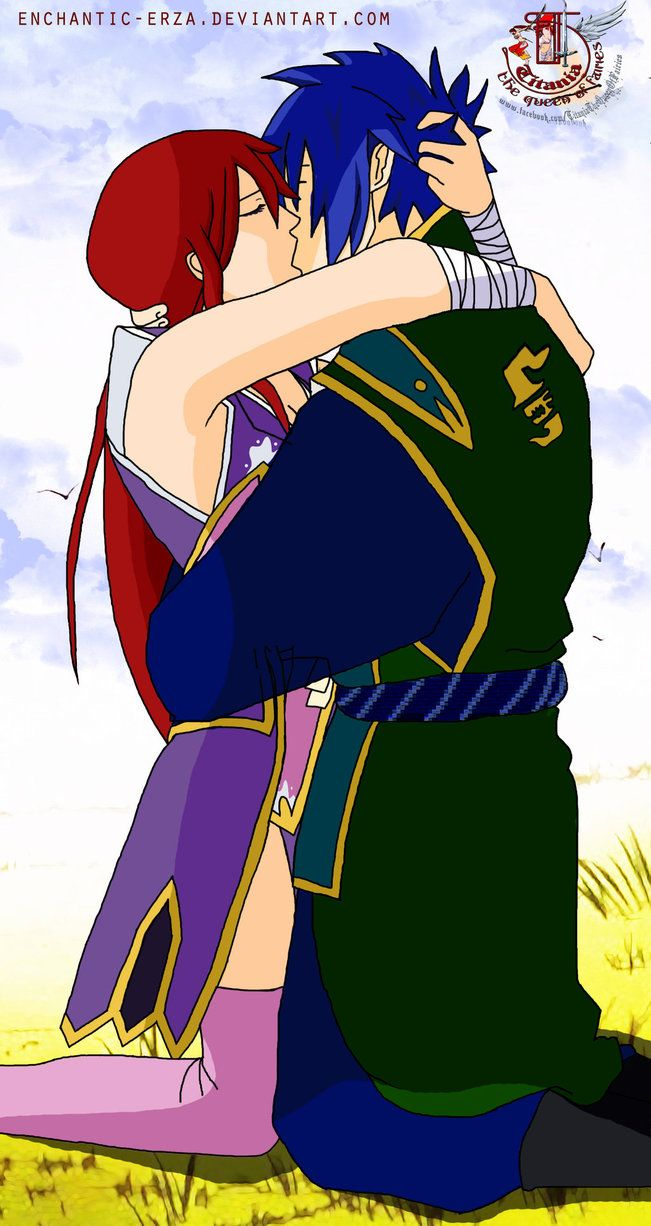 Jellal and Erza kiss | Fairy Tail | Pinterest | Fairy tail, Kiss and ...