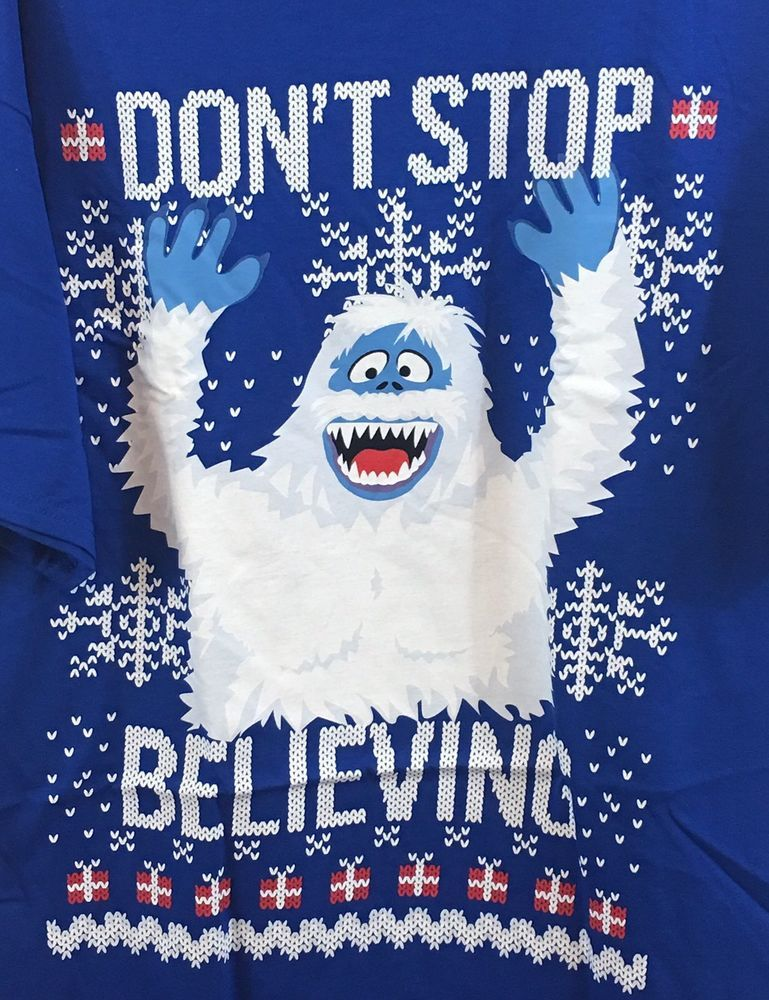 BUMBLE shirt men large abominable snowman new dont stop believing
