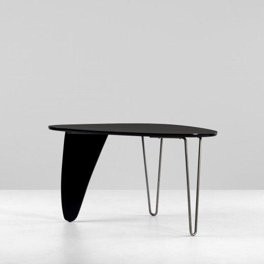 Isamu Noguchi In 20 Lacquered Birch And Steel Rudder Dining