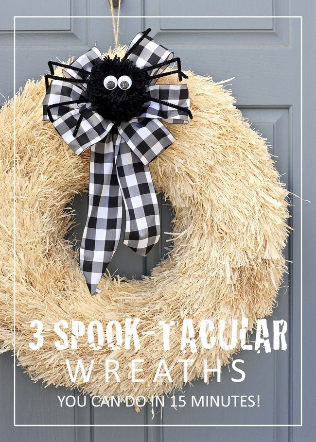 3 Spook-Tacular Halloween Wreaths You Can Make In Just 15 Minutes - halloween design