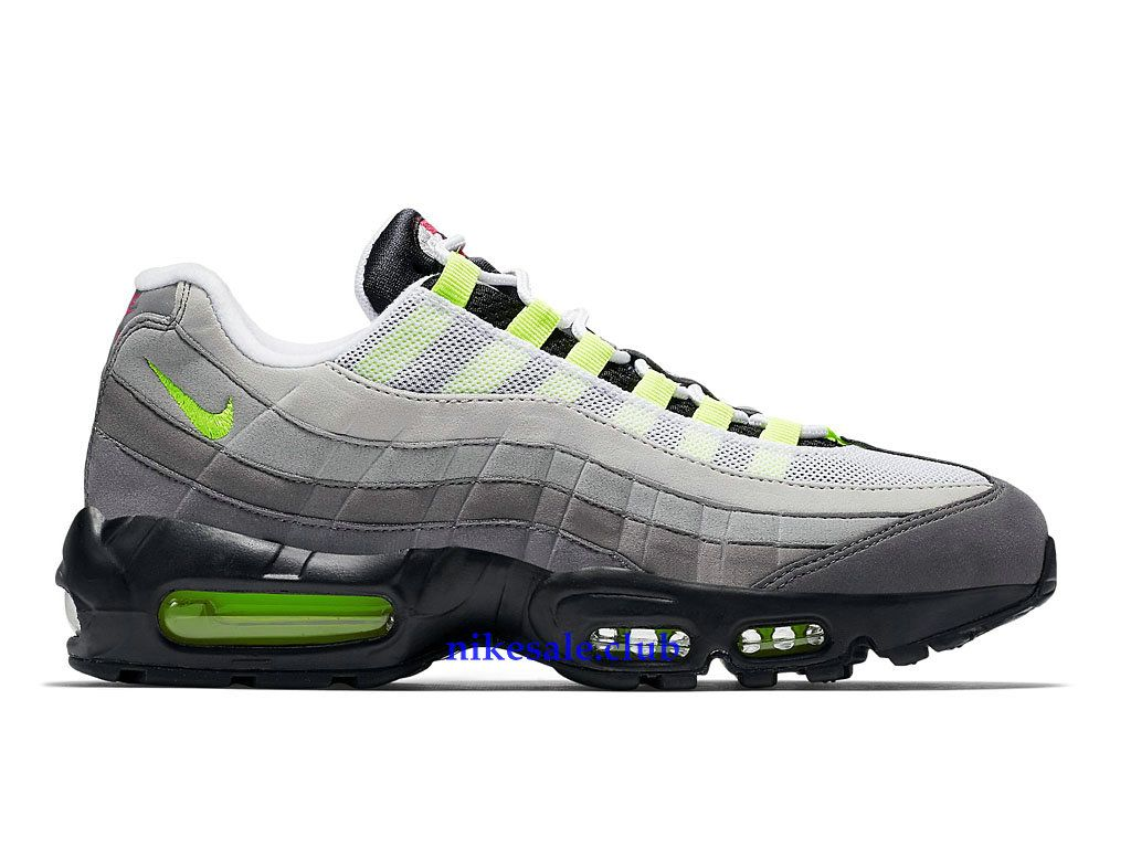 the latest be0d3 448b5 Nike Air Max 95 OG QS GS Prix Femme Pas Cher Sale GrisNoirVert 810374-078