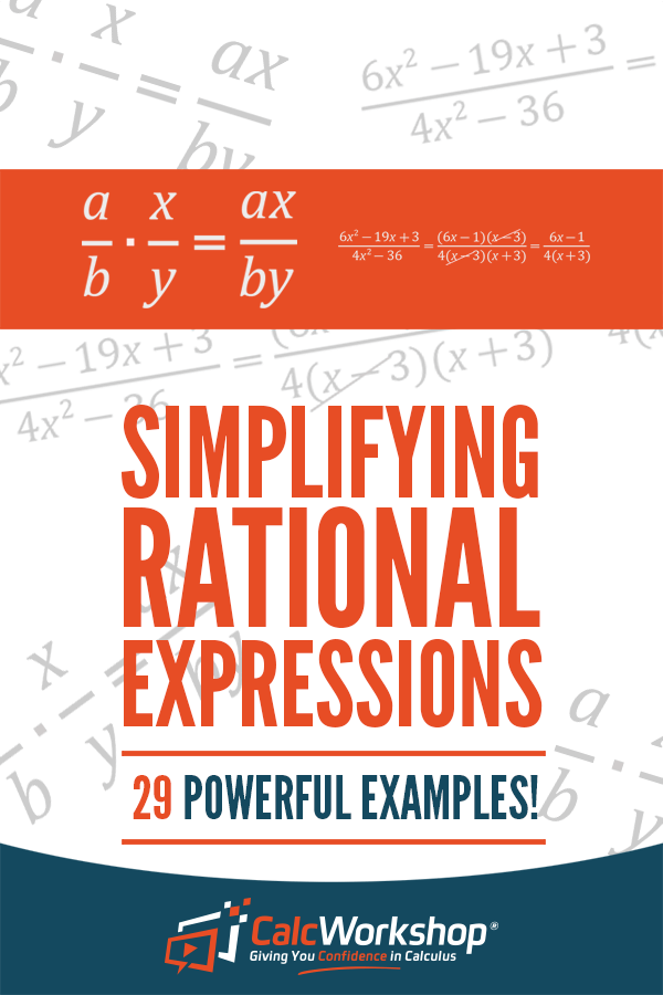 Simplifying Rational Expressions 29 Amazing Examples Simplifying Rational Expressions Rational Expressions Simplify Math