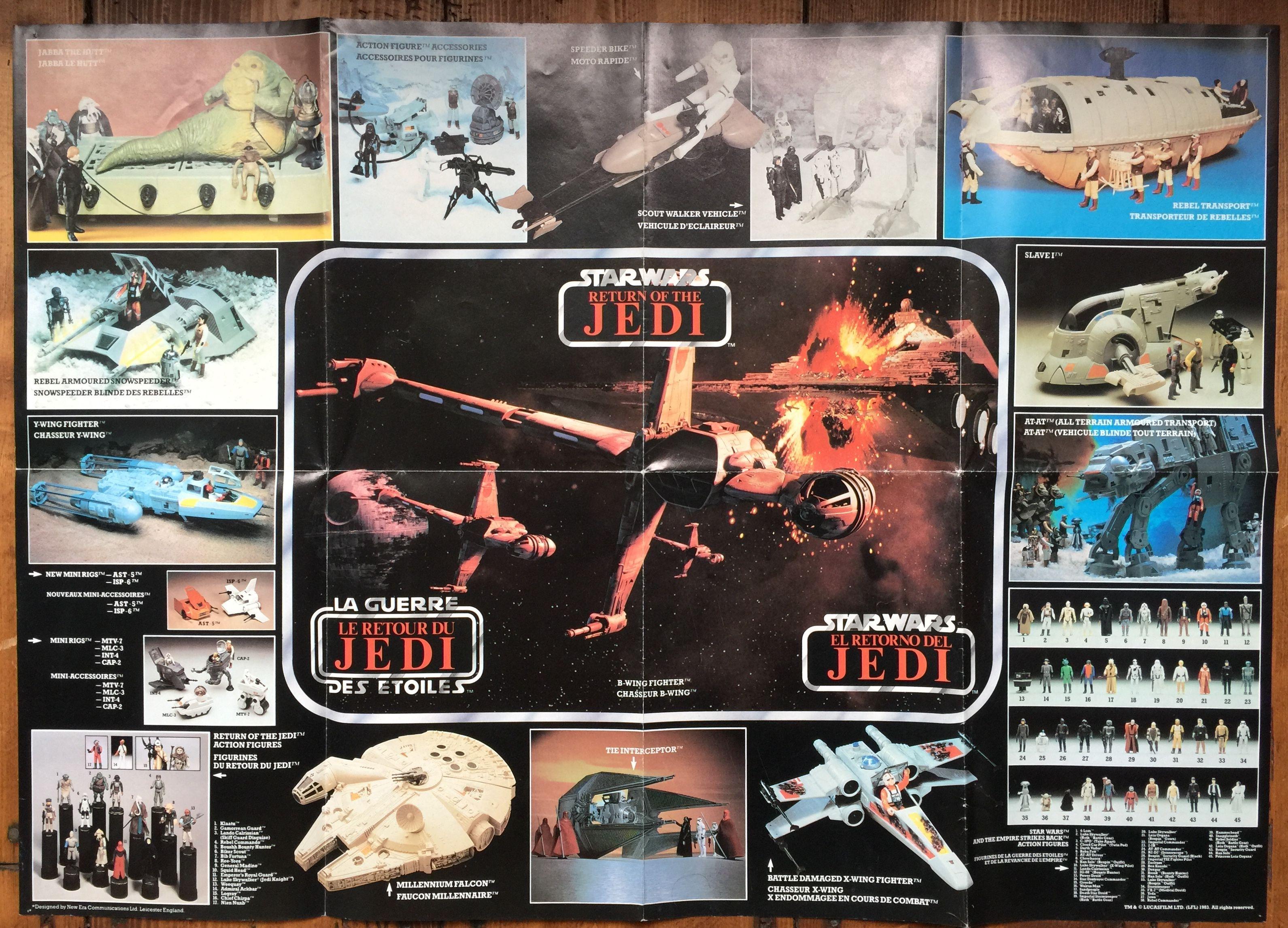 Vintage Kenner Star Wars Return Of The Jedi Toy Poster Kenshocollection Kenner Starwars Vintage Star Wars Toys Star Wars Collection Star Wars Figures