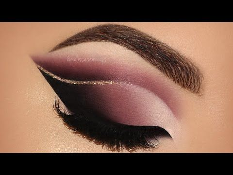 Dramatic Double Cut Crease & Touch Of Glitter Glam Makeup ...