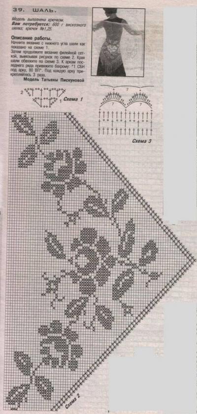 Patron Tejer Chal - Patrones Crochet | crochet | Pinterest | Chal ...