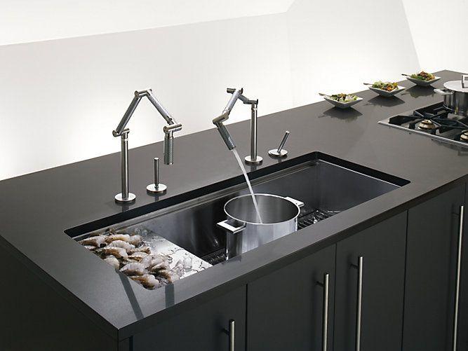 Stages 45-Inch Under-Mount Kitchen Sink | K-3761 | KOHLER 45\