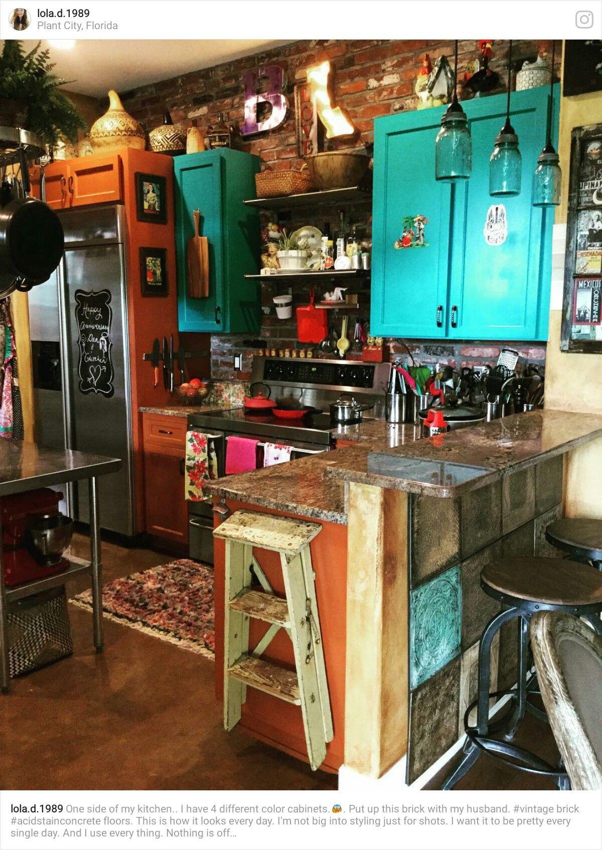 pin by yonnie smith on home bohemian homes bohemian kitchen sweet home boho kitchen on hippie kitchen ideas boho chic id=23007