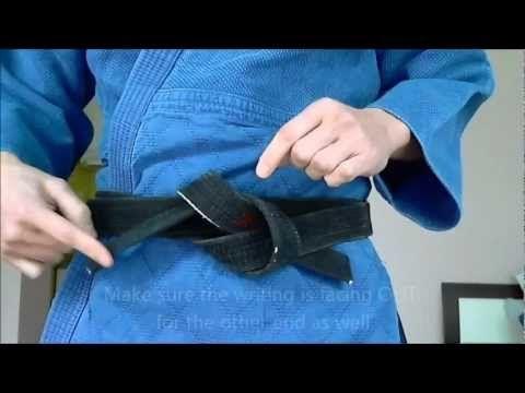 Tying Judo Belt