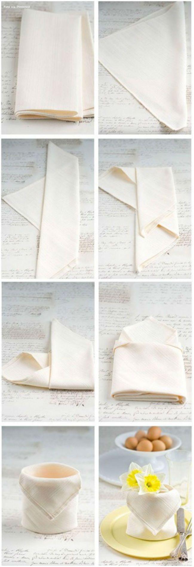 Napkin Fold - 35 Beautiful Ex&les of Napkin Folding  sc 1 st  Pinterest & 12 Passo a passo | napkins | Pinterest | Napkins Origami and ...