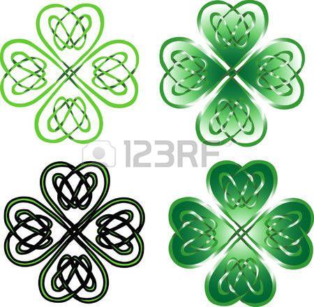 Resultado de imagen de simbolo trebol de la suerte | colores