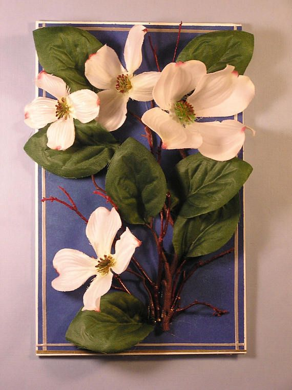 Handmade silk dogwood blossom 3d card made of silk flowers and handmade silk dogwood blossom 3d card made of silk flowers and mightylinksfo Image collections