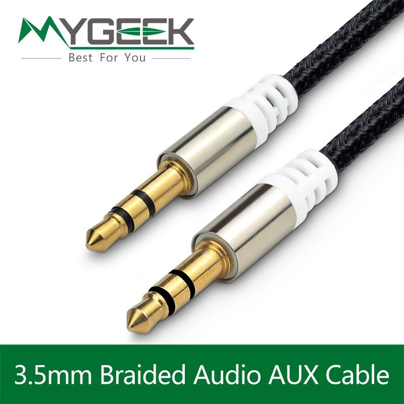 MyGeek 3.5 mm jack aux Cable for iPhone Samsung mp3 3.5m m Car Audio ...