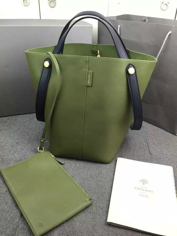 Spring 2016 amp; Mulberry Midnight Khaki Bag in Tote Flat Calf Kite S4qdw14