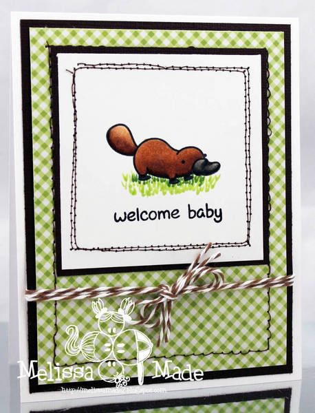 DONE -- platypus baby card - Lawn Fawn Critters Down Under