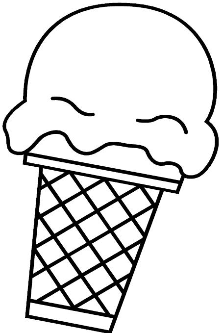 kleurplaat ijskraam