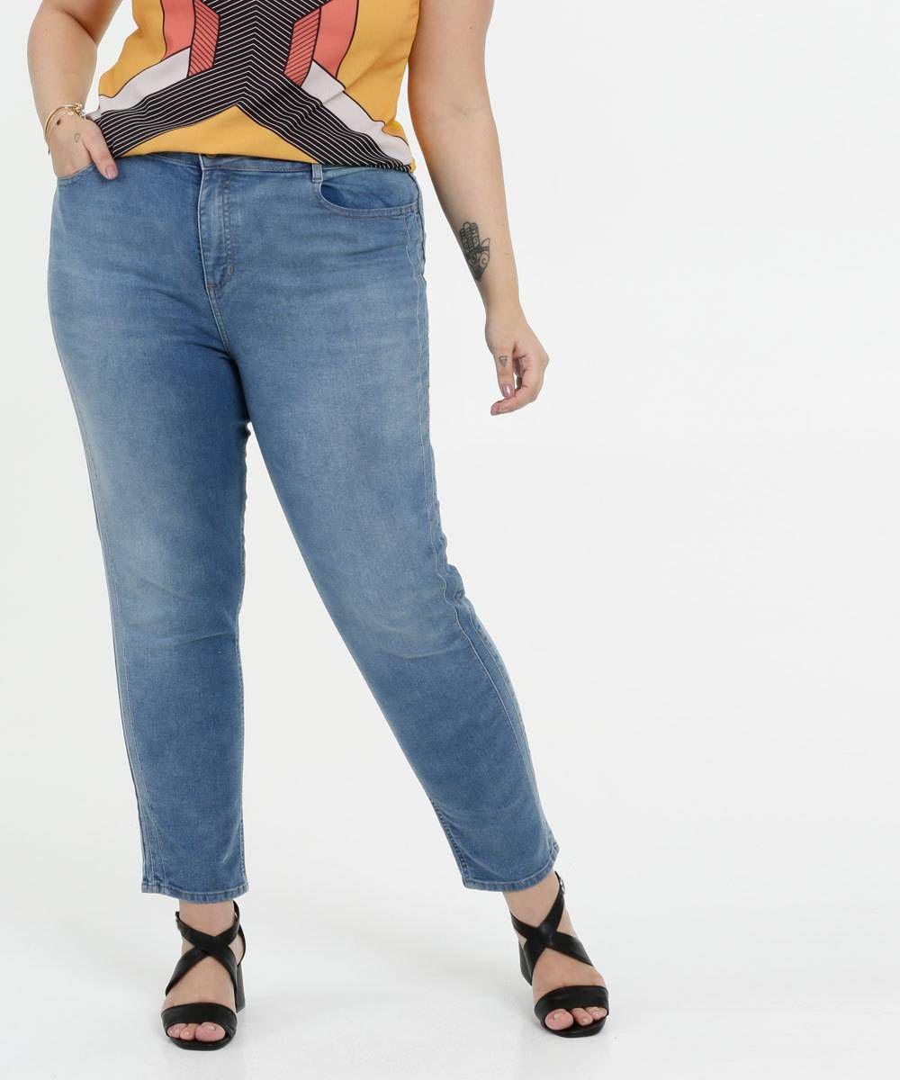 Photo of Marisa Plus Size Cigarrete Jeans Mulher