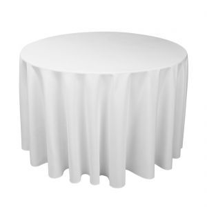 bed bath and beyond has great round tablecloths online on sale
