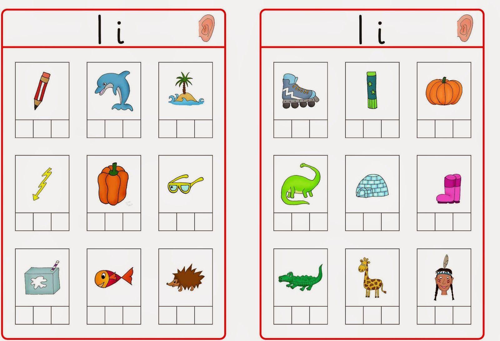 Abhörkarten I R U | Lautschulung, Phonologische bewusstheit und Anlaute
