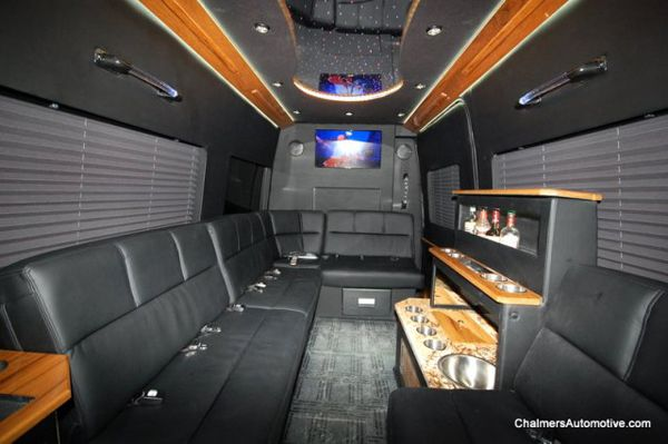 Mercedes Sprinter Passenger Van Rental Houston Express Limo Luxury Van Van Interior Mercedes Sprinter