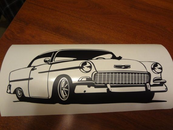 1955 Chevy Garage Wall Decal Vintage Car Home Decor By BerrysGoods, $5.99