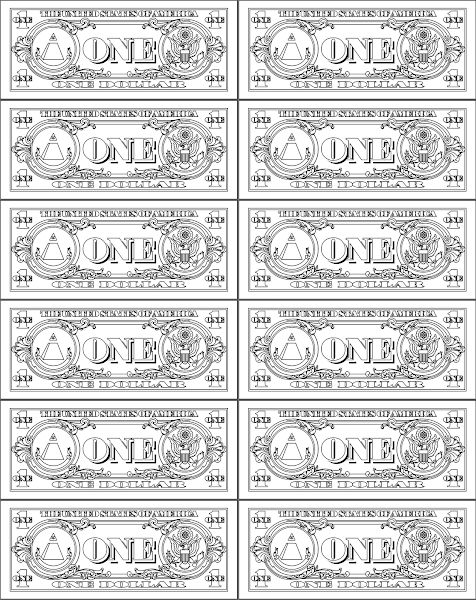 13+ Play money clipart black and white info