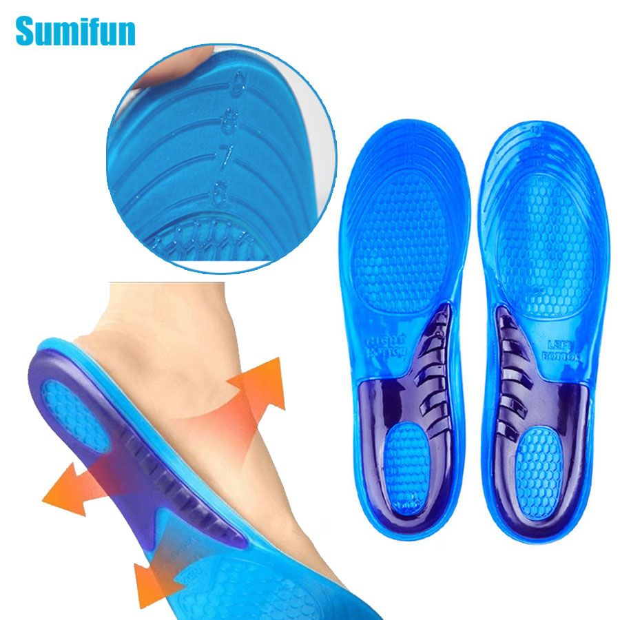 1 Pair Sports Running Massaging Arch Support Shoe Inserts Gel Insoles for Sports