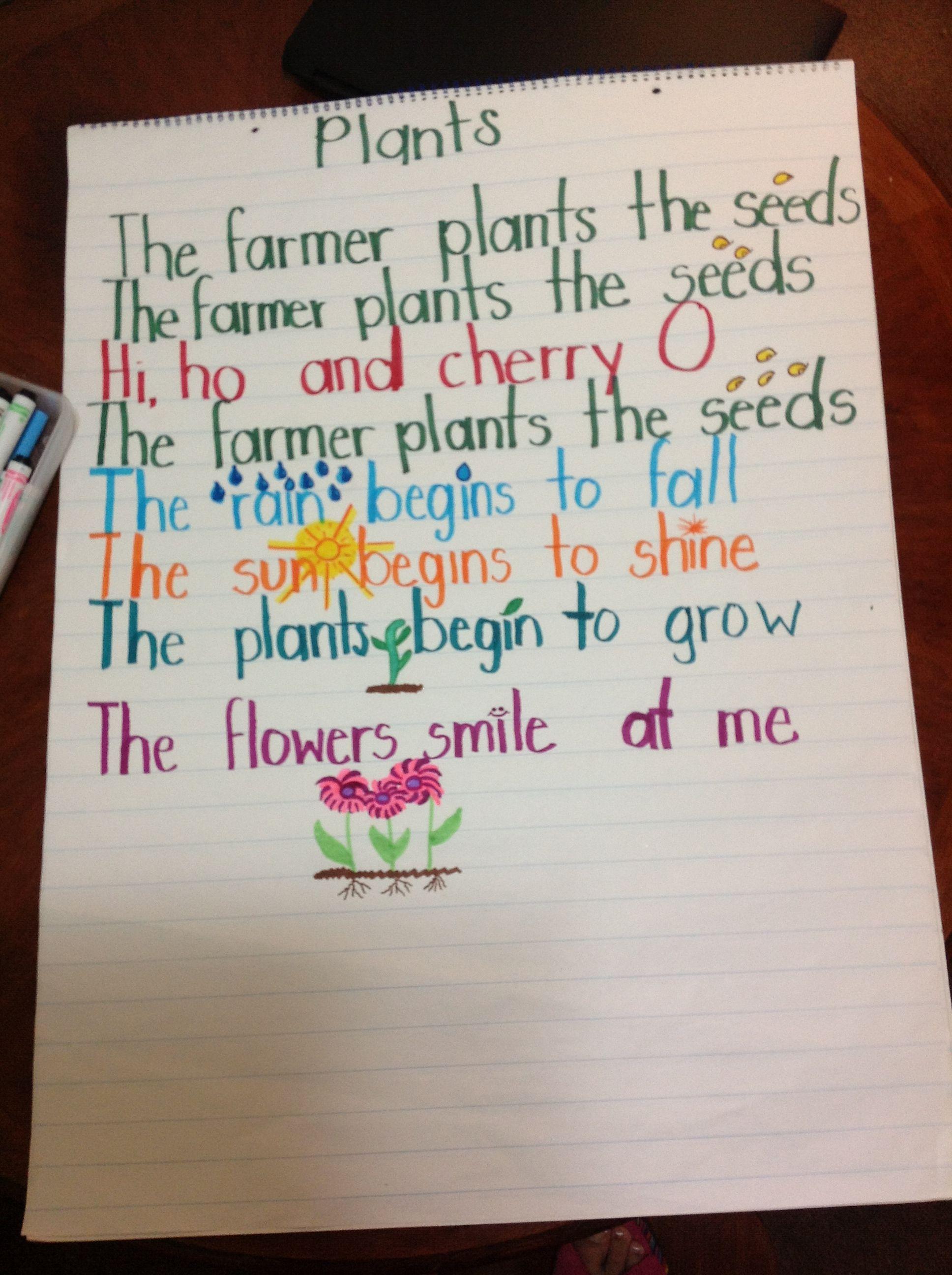Plants Song Kindergarten