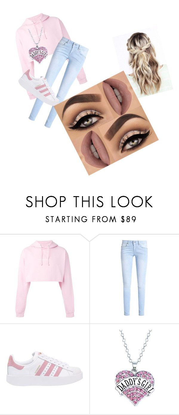 """""""babygirl❤"""" by neneow2005 ❤ liked on Polyvore featuring F.A.M.T., adidas Originals and Lime Crime"""