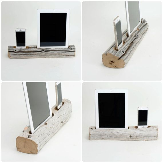 Driftwood Dock for a Combination of Devices by DOCKSMITH on Etsy