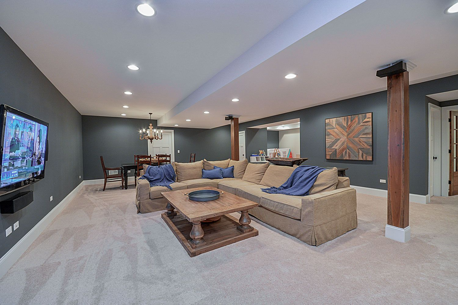 Remodeling Basement Ideas Drew And Nicole 39s Basement Remodel Pictures For The Home