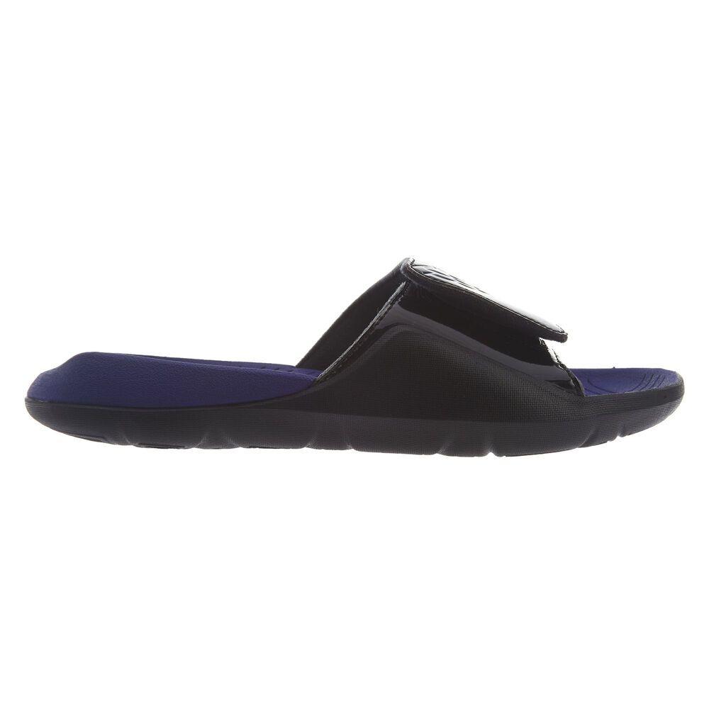 Jordan Hydro 7 Black Dark Concord White Slide Sandals Mens Size AA2517-005