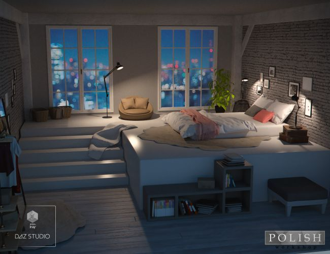 Cozy Bedroom | 3D Models For Poser And Daz Studio